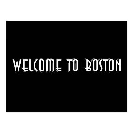 Boa vinda a Boston Cartao Postal