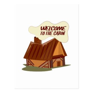 Boa vinda à cabine cartao postal