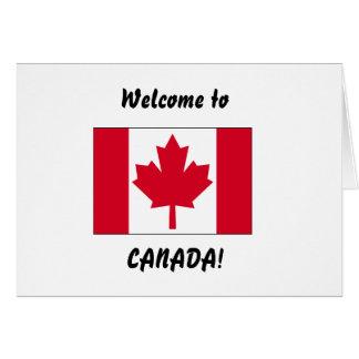 Boa vinda a Canadá Cartão Comemorativo