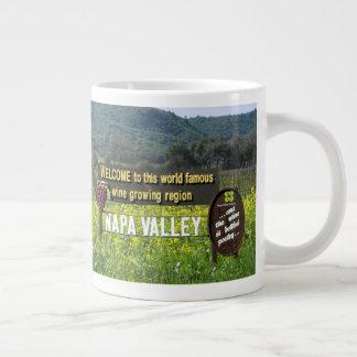Boa vinda à caneca de café bonita de Napa Valley