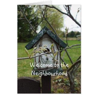 Boa vinda à casa do Vizinhança-pássaro Cartão Comemorativo