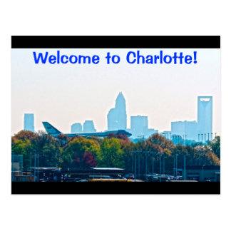 Boa vinda a Charlotte Cartões Postais