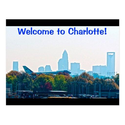 Boa vinda a Charlotte! Cartões Postais