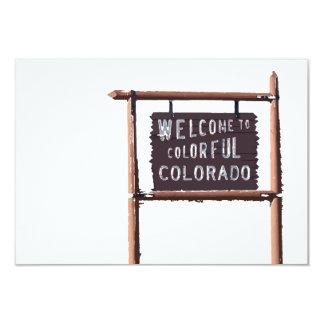 boa vinda a Colorado colorido Convites Personalizado