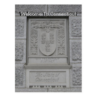 Boa vinda a Connecticut Cartão Postal