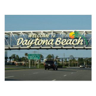Boa vinda a Daytona Beach Cartão Postal