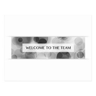 boa vinda à equipe (bokeh) cartão postal