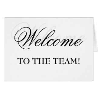 Boa vinda à equipe! cartão comemorativo