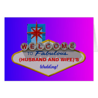 Boa vinda a fabuloso seu casamento cartoes