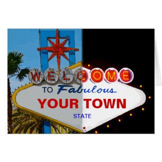 Boa vinda a fabuloso sua cidade! cartões