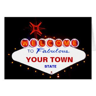 Boa vinda a fabuloso sua cidade! cartao