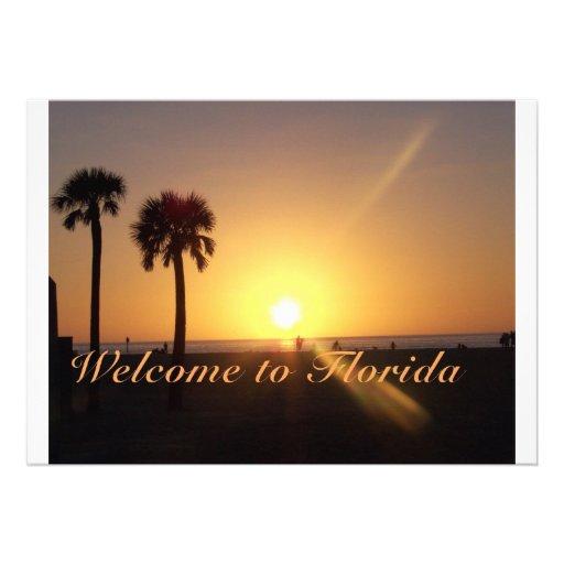 Boa vinda a Florida Convites