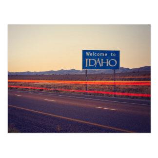 Boa vinda a Idaho Cartão Postal