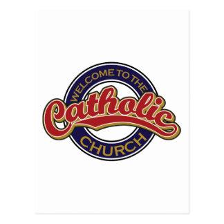Boa vinda à igreja Católica Cartao Postal