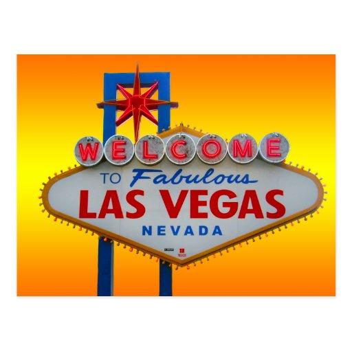 Boa vinda a Las Vegas Cartoes Postais