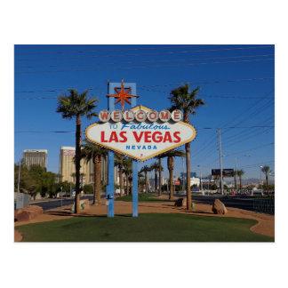 Boa vinda a Las Vegas Cartão Postal