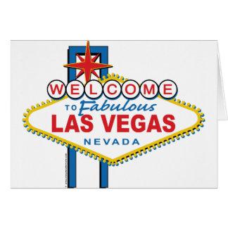 Boa vinda a Las Vegas fabuloso Cartão Comemorativo