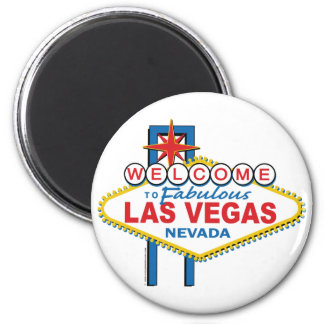 Boa vinda a Las Vegas fabuloso Ímã Redondo 5.08cm
