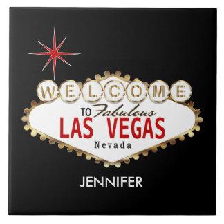 Boa vinda a Las Vegas - vermelho e ouro