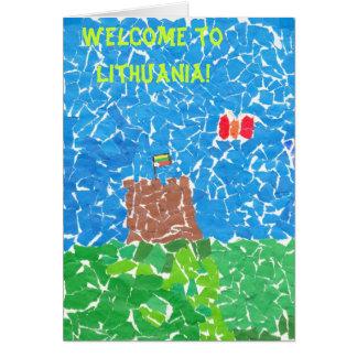 Boa vinda a Lithuania! Cartão Comemorativo