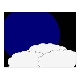 Boa vinda à lua azul cartão postal