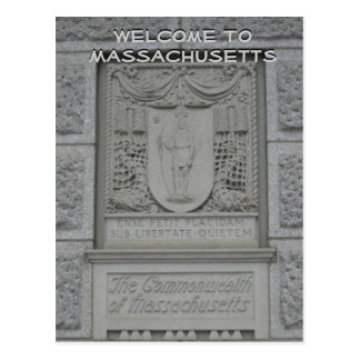Boa vinda a Massachusetts Cartão Postal