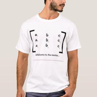 Boa vinda à matriz camiseta