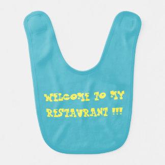 Boa vinda a meu babador do bebê do restaurante