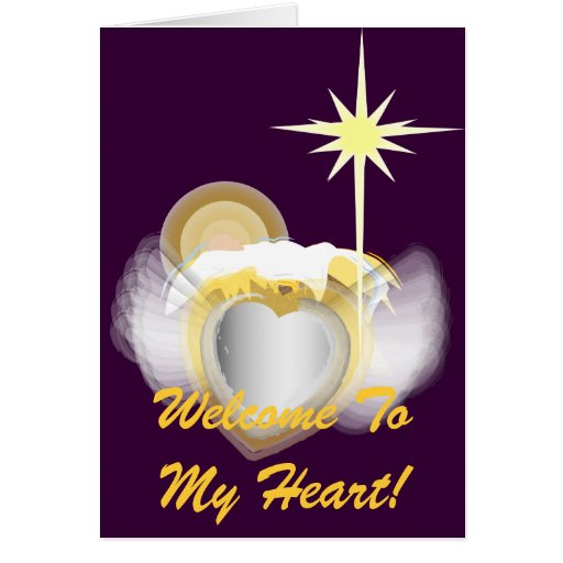 Boa vinda a meu coração! - Personalize Cartões