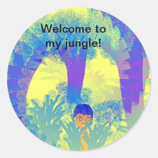 Boa vinda a minha selva! Etiquetas Adesivo