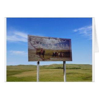 Boa vinda a Montana Cartão Comemorativo