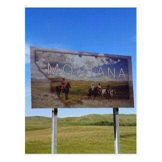 Boa vinda a Montana Cartão Postal