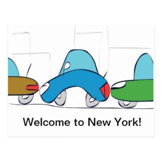 Boa vinda a New York! Cartão Cartao Postal