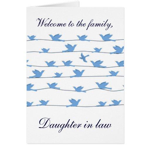 Boa vinda à nora da família cartões
