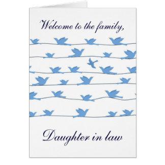 Boa vinda à nora da família cartão comemorativo
