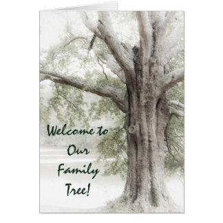 Boa vinda a nossa árvore genealógica Notecard Cartão
