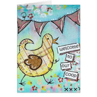 Boa vinda a nossa capoeira! cartão comemorativo