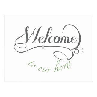 Boa vinda a nossa casa cartão postal