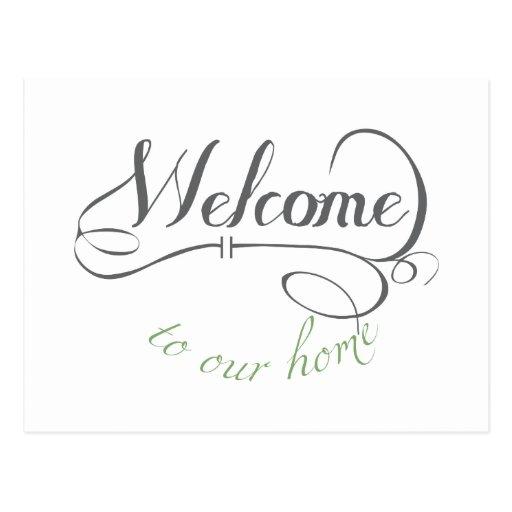 Boa vinda a nossa casa cartao postal
