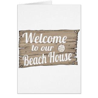 boa vinda a nossa casa de praia cartões