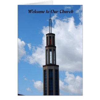 Boa vinda a nossa igreja cartões