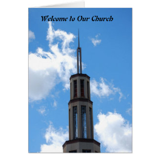 Boa vinda a nossa igreja cartão comemorativo