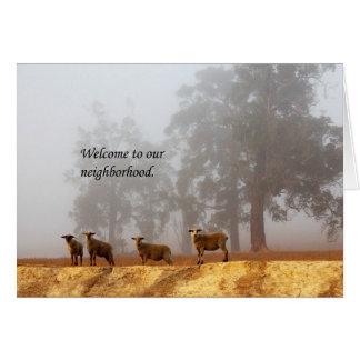 Boa vinda a nossa vizinhança cartão comemorativo