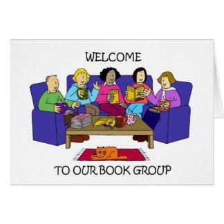 Boa vinda a nosso grupo do livro cartão comemorativo