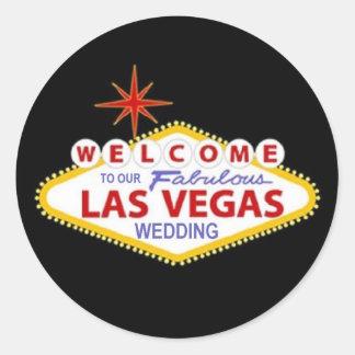Boa vinda a nosso Las Vegas fabuloso que Wedding a Adesivo
