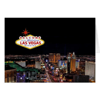 Boa vinda a nosso Las Vegas fabuloso que Wedding Cartão Comemorativo