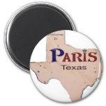 Boa vinda a Paris, Texas Imã De Geladeira