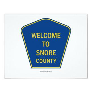 Boa vinda a ressonar condado (sinais) convite