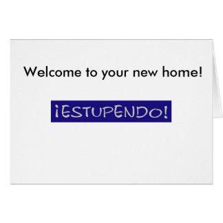 Boa vinda a seu cartão home novo
