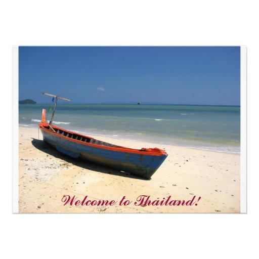 Boa vinda a Tailândia! Convite Personalizado